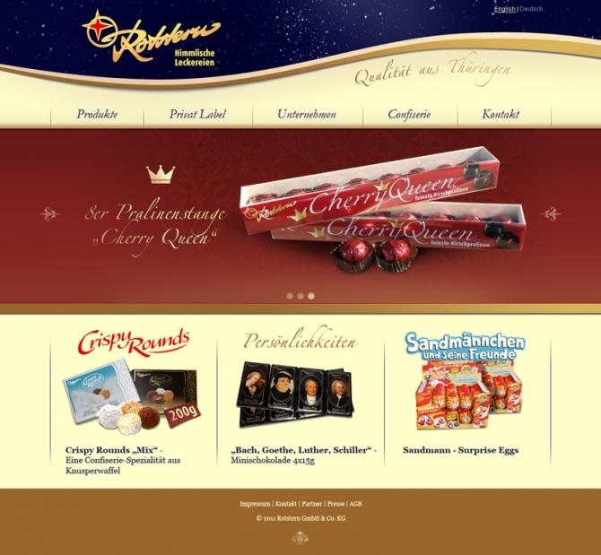 Entwurf einer neuen Websitegestaltung der Fa. Rotstern